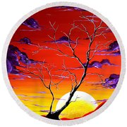 Lonely Soul By Madart Round Beach Towel