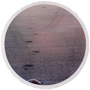 Lonely Round Beach Towel