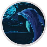 Lonely Tonight Round Beach Towel