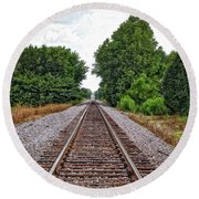 Lonely Track Round Beach Towel