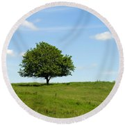 Loner Round Beach Towel