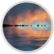 Lonesome Bird Round Beach Towel