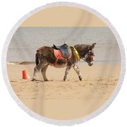 Lonesome Donkey Round Beach Towel