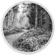 Long And Winding Path Round Beach Towel