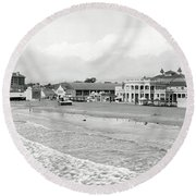 Long Beach California C. 1910 Round Beach Towel