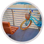 Long Beach Cruiser Round Beach Towel