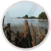 Long Beach, Tofino Round Beach Towel