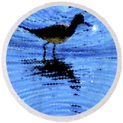 Long-billed Diwitcher Round Beach Towel
