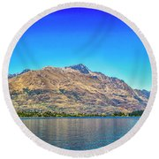 Long Distance View Round Beach Towel