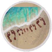 Long Family Beach Feet Round Beach Towel