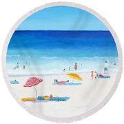 Long Hot Summer Round Beach Towel