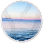 Long Island Sunset Round Beach Towel