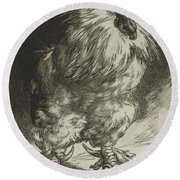 Long Live The Tzar Vive Le Tzar Felix Bracquemond 1833 - 1914 Round Beach Towel