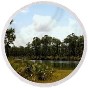 Long Pine Key Round Beach Towel