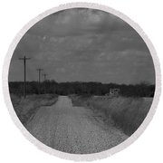 Long Road Home.... Round Beach Towel