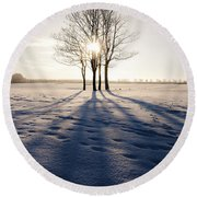 Long Shadows Round Beach Towel