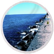 Long Thought Round Beach Towel