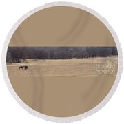 Long Trail Home Round Beach Towel