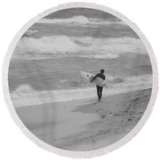 Long Walk Home Round Beach Towel