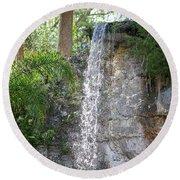 Long Waterfall Drop Round Beach Towel