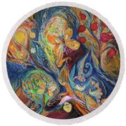 Longing For Chagall Round Beach Towel