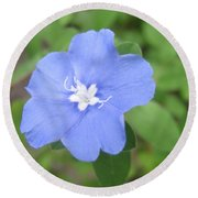 Lonly Blue Flower Round Beach Towel