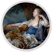 Loo, Louis-michel Van Tolon, 1707 - Paris, 1771 Diana In A Landscape 1739 Round Beach Towel
