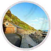 Looe Boathouse Round Beach Towel