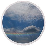 Look At The Sky Round Beach Towel