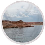 Look Closely - Window Rock Round Beach Towel