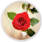 Look Down On A Rose Round Beach Towel