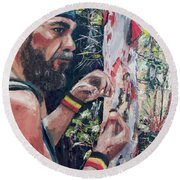Look Into Another Dimension Round Beach Towel