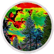 Look Into The Future 2 Round Beach Towel