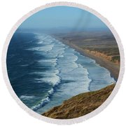 Look To The Horizon Round Beach Towel