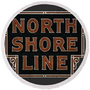 Look To The North Round Beach Towel