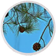 Look Up Round Beach Towel