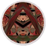 Look Within - Abstract Round Beach Towel