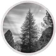 Looking For The Sky Into The Woods Round Beach Towel