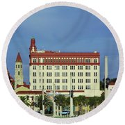 Looking Back At St Augustine Round Beach Towel