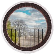 Looking Brick Round Beach Towel