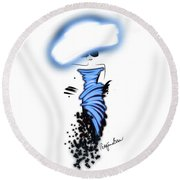 Looking Cool In Blue Round Beach Towel