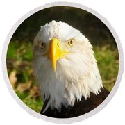 Looking Eagle Round Beach Towel