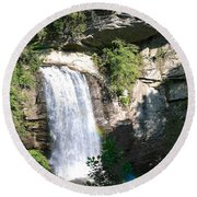 Looking Glass Falls Nc Round Beach Towel