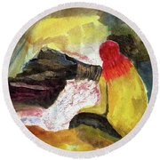 Looking Into The Infernal Of Hell Round Beach Towel