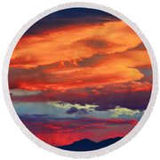 Looking To Boulder Round Beach Towel