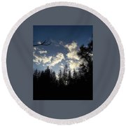 Looking To The Sky Round Beach Towel
