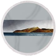 Looking Towards Arran From Skipness Round Beach Towel