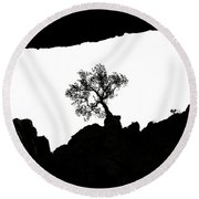 Looking Up 2 Round Beach Towel