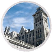 Looking Up At Old City Hall Round Beach Towel