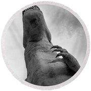Looking Up At T-rex Round Beach Towel